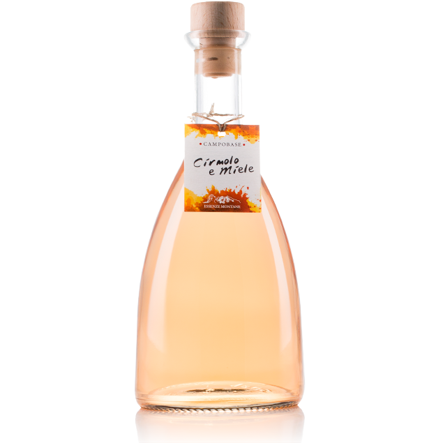 Liquore montano caratterizzato dall'intenso profumo di pino cembro (cirmolo) e dal dolce sapore del miele di montagna.