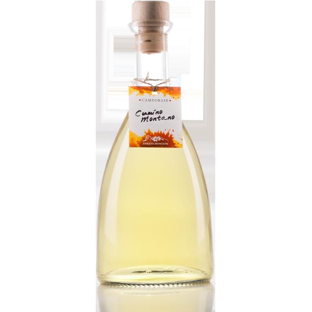 Freschissimo liquore montano a base di grappa, ottenuto anche dall'infusione in grappa del Cumino Montano.